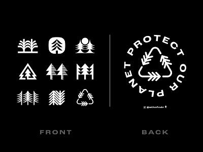 Pine Tree T-shirt design t-shirt enviroment adventure logos symbol icon nationalpark nature arbor trees pine tree