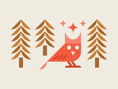 Owllustration beer glass beer icon star owl illustration illustration night pine tree bird owl