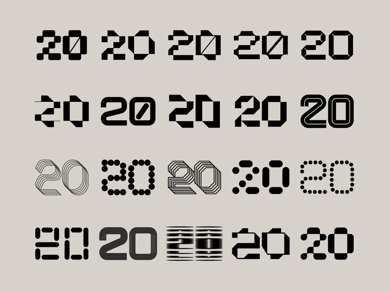 Twenty 20's tech logo technology modern type typogaphy 2020