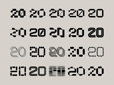 Twenty 20's tech logo technology modern type typogaphy 2020