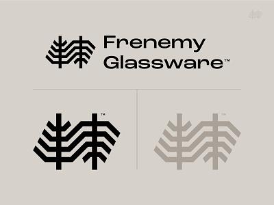 Frenemy Glassware_dribbble glassware beer glass glass beer nature symbol trademark identity tree