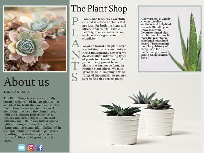 Plant shop Brochure