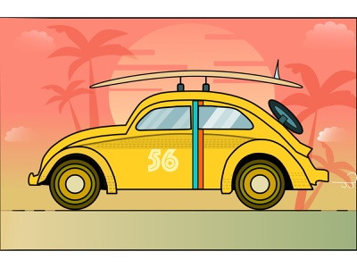 beetle- surf illustration