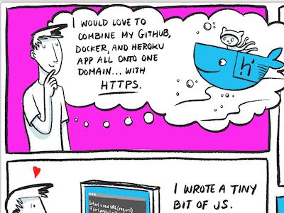 Dreamin' of whales cute github docker cartoon face character line comic