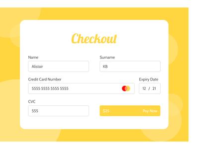 Checkout checkout page