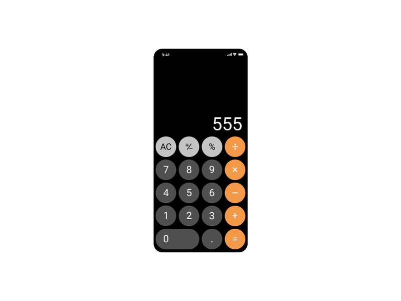 4th project dailyui004 ios13 calculator app