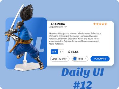 e-commerce (single item) toys japanese art dailyui