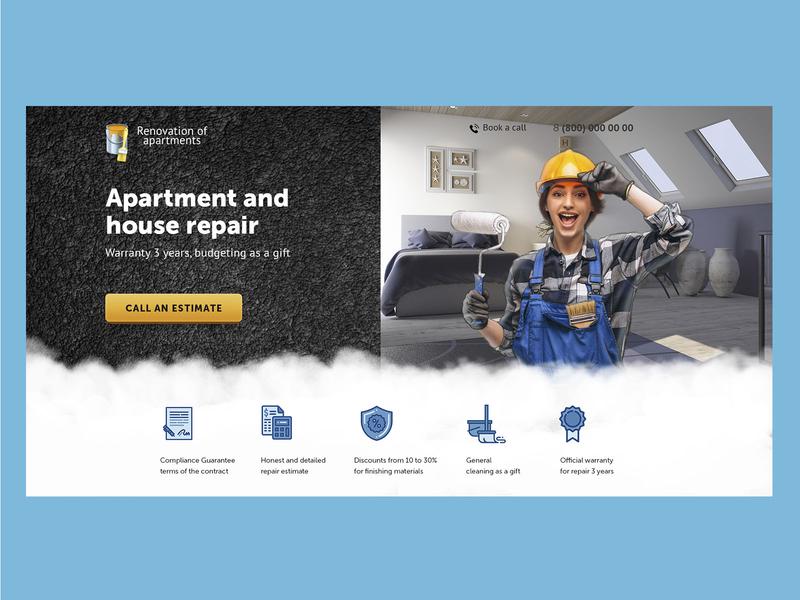 Apartment and house repair web design