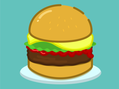 Food vector art flat vector illustration