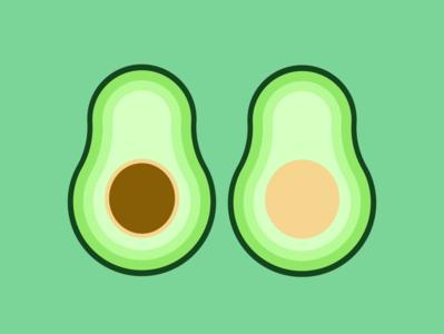 Avocado flat vector illustration