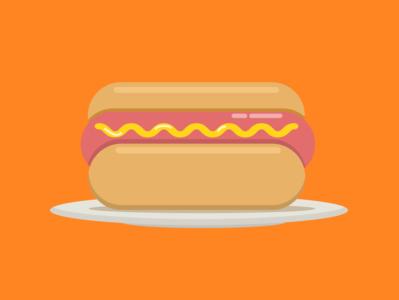 Hot dog minimal design vector illustration flat
