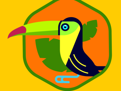 Toucan vector design minimal flat illustration