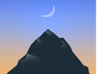 Moutain top design minimal vector illustration flat