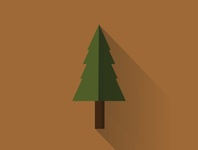 Tree practice minimal vector illustration flat