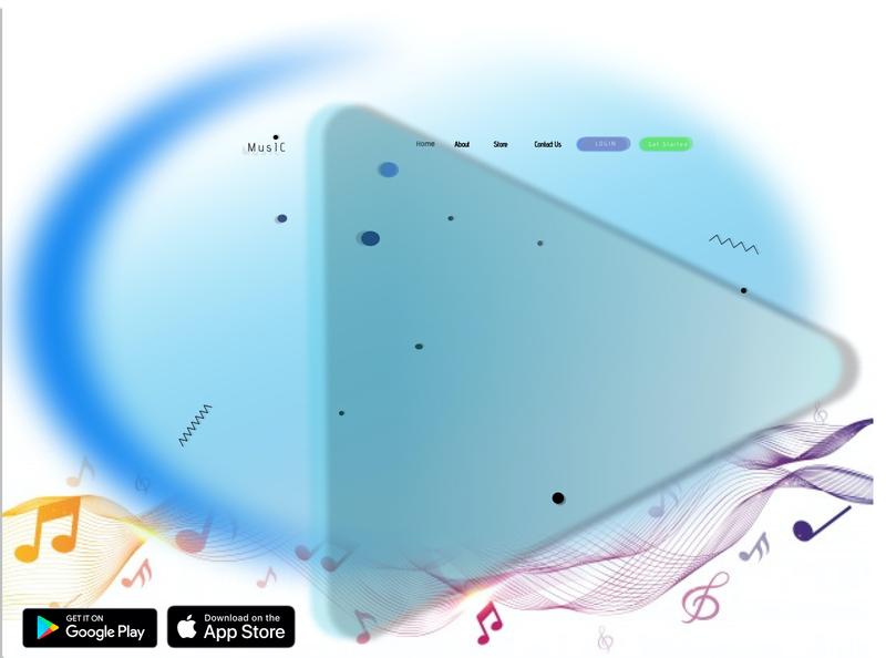 Music Web Application Landing Page flatdesign branding design logo figmadesign vector figma ui