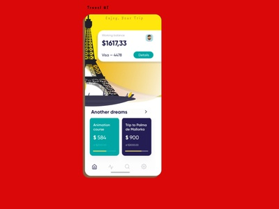 Travel UI for Application vector flat figma app branding product design app development travel app design design ui