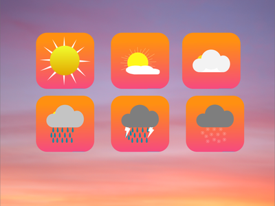 App Icon ui design weather app icons dailyui005 icon app dailyuichallenge dailyui