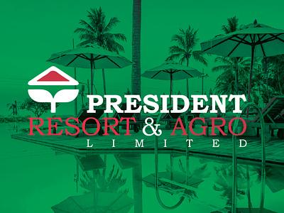 Brand Identity Design For President Resort   Agro Limited 02 2020 logo logo design branding 2021 logo logo mark logo brand design brand identity