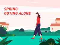 Spring outing alone