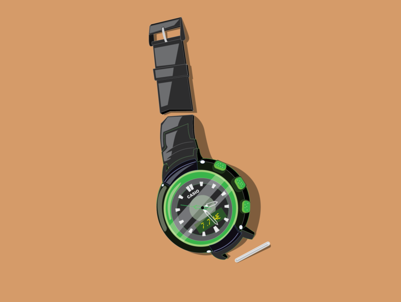 Broken watch watch broken art illustrator minimal flat animation vector design illustration