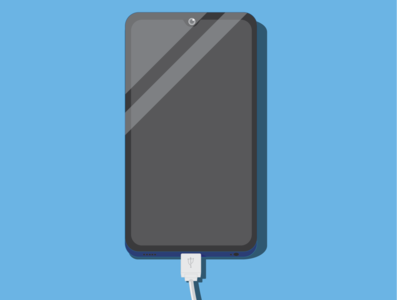 Smartphone phones smartphone phone minimal design illustrator