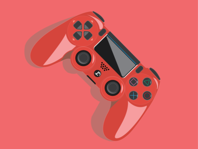 Dualshock 4 playstation4 playstation5 ps5 ps4 ps phone electronic illustration flat art animation minimal illustrator design