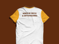 World of Coffee & Coffeemachines T-Shirt (Back)