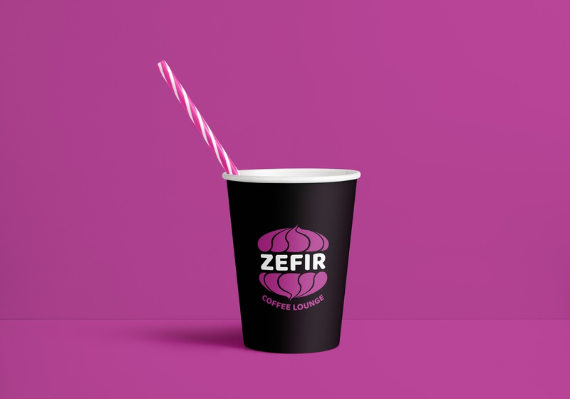 Zefir Coffee Lounge Paper Cup cup of coffee coffee brand identity design brand identity corporate identity design corporate identity branding design branding paper cup logos logotypedesign logotype design logotype logo cup