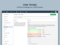 CRM Tronic Settings of Sales Scripts Page