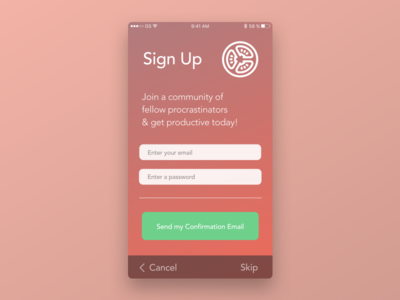 Day 1 - Sign Up 100 days of ui user experience design copywriting sign-up onboarding ui ux