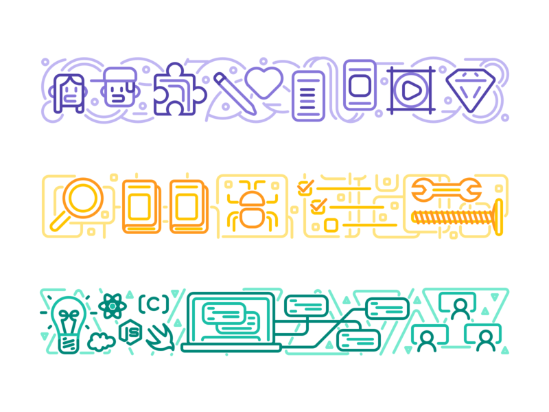 DevMountain Personality Survey Results Illustrations ux graphic design illustration