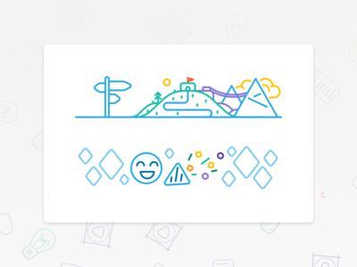 Start and Ending Survey Illustrations ux graphic design illustration