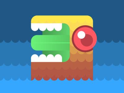 Sea Monster illustration graphic  design