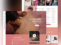 Harry Styles Mockup Website