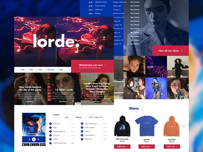Lorde Mockup Website media player album melodrama user interface design web web design ui design ui music lorde