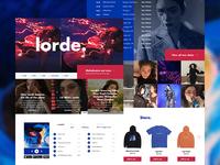 Lorde Mockup Website