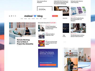 Melewi Blog blog design blog web ui design ui user interface design