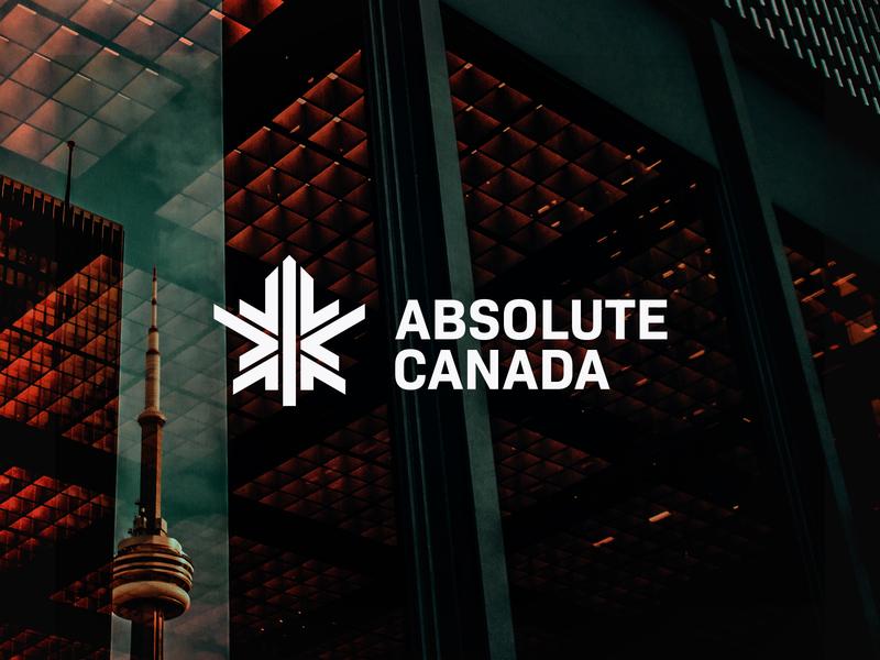Absolute Canada - Logo Design canada maple bold logo logo designs designer company branding company branding brand identity brand