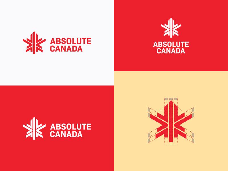 Absolute Canada logo construction construction maple leaf maple mark canada bold logo logo designs designer company branding company branding brand identity brand