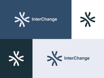 InterChange - Logo Design risk grey blue variations interchange highway bold logo logo designs designer company branding company branding brand identity brand