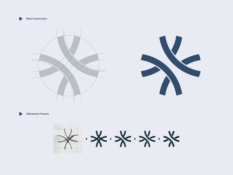 InterChange - Logo Design logo process refinement logo construction construction interchange highway bold logo logo designs designer company branding company branding brand identity brand