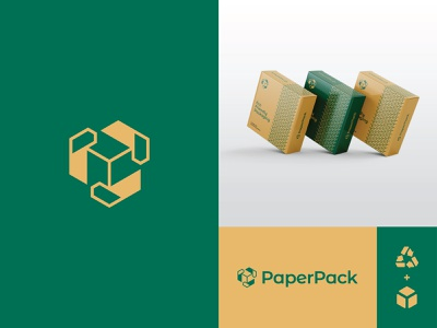 PaperPack - Kallam Ar Rahman package paper eco packaging environment eco logo recycle logo eco friendly logo designer logo mark logodesign logo