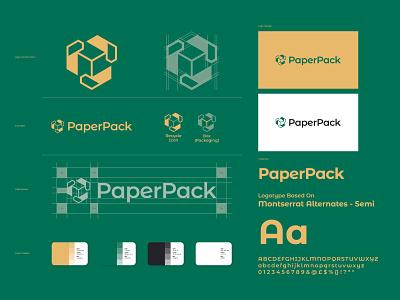 PaperPack - Brand Identity pack paper eco environment logo mark logo design logo designer brand brand identity branding logo