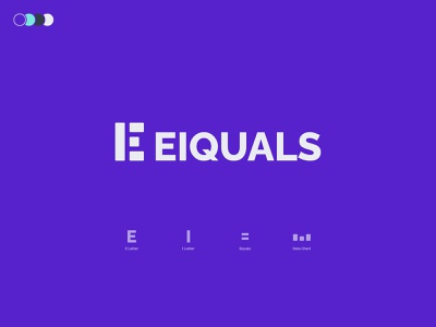 Eiquals V2 - Logo Design freelance creative logo brand identity growth designer logo design visual identity analytics data chart equals i letter e letter monogram branding mark logo
