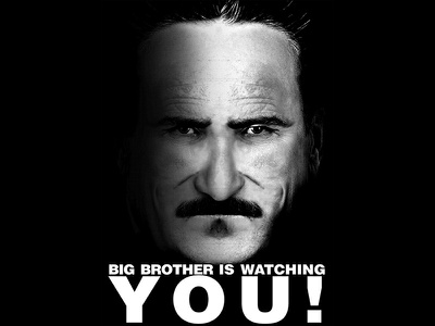 Big Brother is Watching dictator dystopian black and white literature dystopia george orwell 1984 big brother montage collage photoshop graphic design design