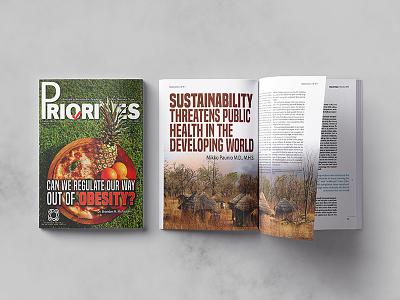 Priorities Magazine publication design publishing graphic design magazine health science and technology typography editorial design layout design magazine design
