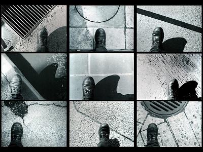 Walkin' roads sidewalk street art urban art urban design street shoes high contrast black and white art photography photography