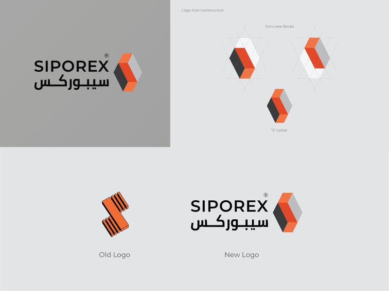 siporex logo design illustrator website logo design logo mark logo concept construction logo minimal logo branding flat icon illustration
