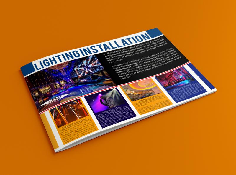 Brochure flyer typography brochure design illustrator company