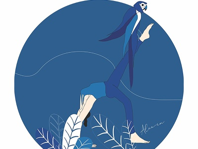 Reflections - Gym ui character design draw minimal illustration